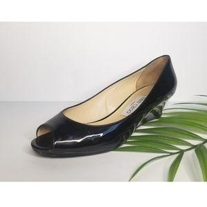 Jimmy Choo Peep-Toe Wedge Heels